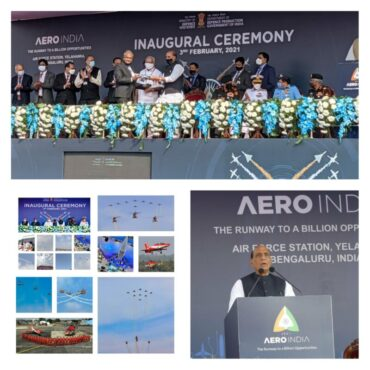 13th Edition of Aero India world's first hybrid aerospace expo inaugurated by Defence Minister Rajnath Singh: