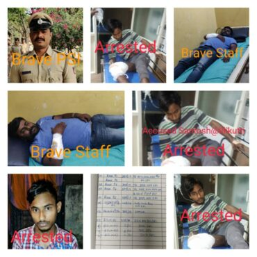Absconding Murder accused nabbed after shootout by Rajagopalnagar police :
