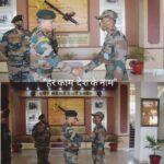 लेफ्टिनेंट जनरल जे एस नैन , जनरल ऑफिसर कमांडिंग-इन-चीफ, दक्षिणी कमान ने जैसलमेर सैन्य स्टेशन का दौरा किया