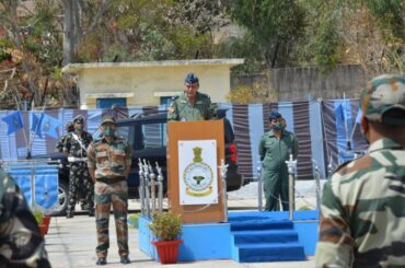 AIR MARSHAL SK GHOTIA, AIR OFFICER COMMANDING-IN-CHIEF, SOUTH WESTERN AIR COMMAND VISITS AIR FORCE STATION MOUNT ABU