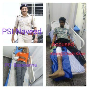 Notorious Rowdy-Sheeter Kiran@Chaddi Kiran nabbed after shootout by Nandini layout police: