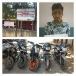 Notorious Habitual bike lifter arrested 5 bikes worth Rs.3 lakhs recovered: