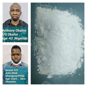 Two Nigerian Drug Peddlers arrested by CCB, Cocaine and MDMA worth Rs.10 lakhs seized