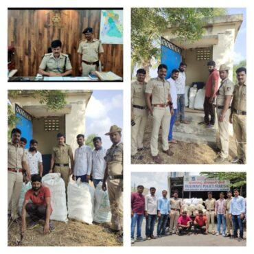Inter-state drug racket busted,Two drug peddlers arrested,120.7 kg Marijuana worth Rs.54 Lakhs Seized by Hulimavu police: