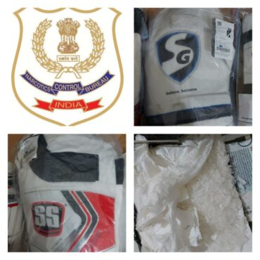 NCB unearthed International Drug Racket,Seized amphetamine drugs worth Rs.20 lakhs concealed in cricket thigh guard:
