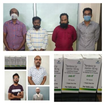 Bengaluru CCB Police busts Remdesivir 'black marketing'racket 18 Arrested including two medical distributors,55 injections vials Seized