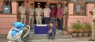 Notorious chain snatcher arrested by Bagalagunte police,stolen gold ornaments worth Rs.90,000 recovered: