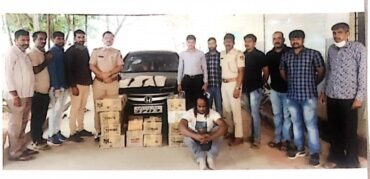 Nigerian National held, liquor outlet illegally running Seized,103 liters liquor bottles recovered: