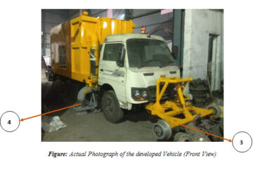 Self-propelled railway track scavenging vehicle can replace manual scavenging