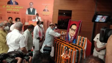 बाबा साहब अम्बेडकर संविधान र्निमाता के साथ महान समाज सुधारक थे: राजनाथ सिंह