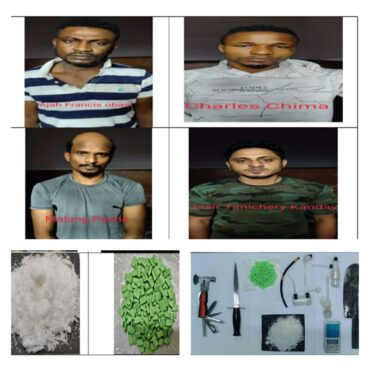 CCB arrest 4 Notorious drug peddlers,including two from Nigeria,seized synthetic Drugs worth Rs.20 Lakhs