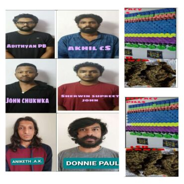 CCB nabs Six Notorious Drug Peddlers including a Nigerian National Synthetic Drugs worth Rs.35 Lakhs Seized