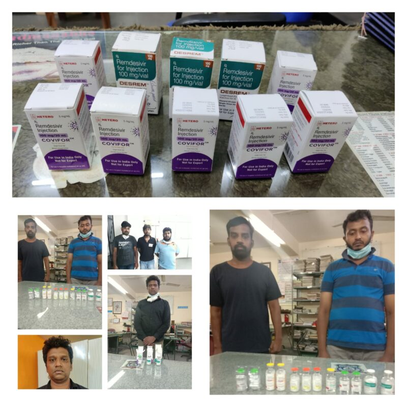 Ten held for Remdesivir black marketing in Bengaluru,37 Remdesivir vials seized.