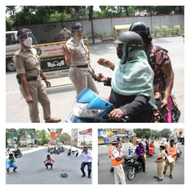 Violating lockdown:Total 7577 Vehicles seized,48 NDMA Cases booked till 1st May by Bengaluru Police :