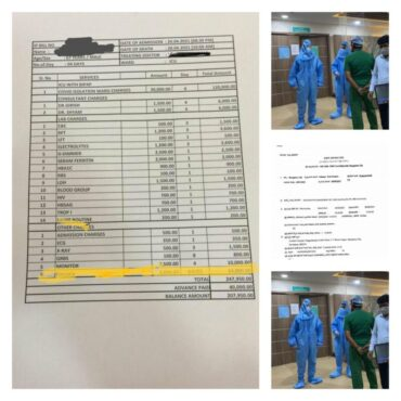 Comfort Multispeciality Hospital MD and others booked for charging excessive bills from Covid patients