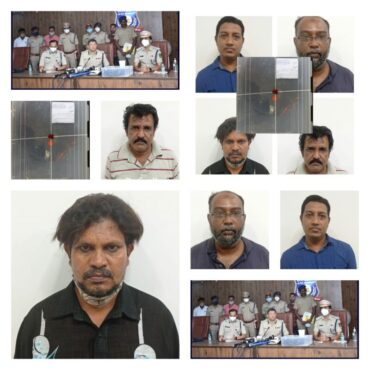 Four held,6.7 kgs of Ambergris (Sperm whale) Worth Rs.8 Crore,Recovered by KG Halli Police