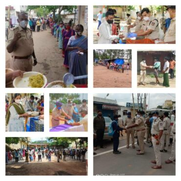 With State govt extend lockdown, cops distribute free meals and goodie bags to children of migrant labourers