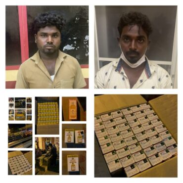 Liquor smuggling Racket busted by City Market police,Two held,509 Litres liquor Seized