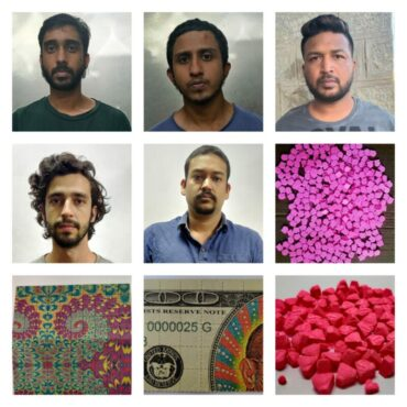 Five Notorious Drug peddler arrested by CCB,30 lakhs worth of LSD and ecstacy drugs seized