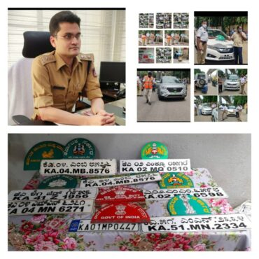 BTP crack whip on faulty number plates booked 85 cases collect fine in Traffic West Division
