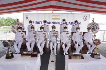 PASSING OUT OF OFFICER TRAINEES AT NAVAL BASE