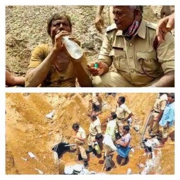 Farmer gets stuck in pipeline in Karnataka's Ramanagara, later rescued by Fire Fighters