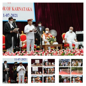 Thawarchand Gehlot takes oath as 19th Karnataka Governor at Glass House in Raj Bhavan