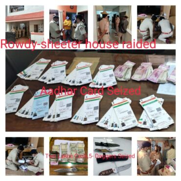 Massive raids on active and Notorious rowdies Wilson Garden Naga,Cycle Ravi,and associates,5 daggers,2 Lakh cash and 254 Aadhar Card Seized by CCB