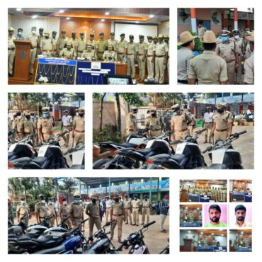 Five held by Madanayakanahalli Police,Private detective including habitual bike lifters arrested,46 Bikes Worth Rs.40 Lakhs Recovered