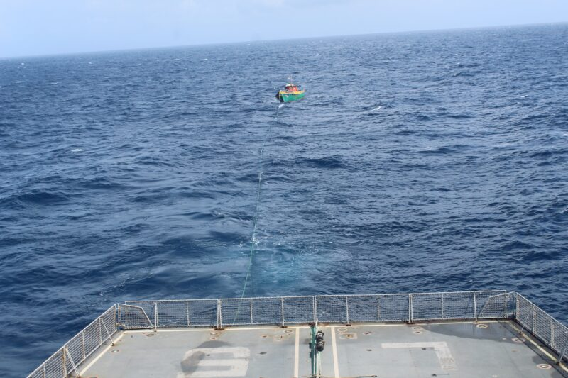 INS AIRAVAT RESCUES FISHING VESSEL OFF CARNICOBAR