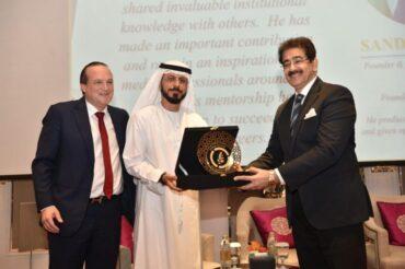 Global Cultural Minister Sandeep Marwah Honoured byUAE