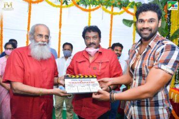 Blockbuster Director Rajamouli givesMuhurthamClap For Bollywood Debutant Bellamkonda Sai Sreenivas much-awaited action entertainer
