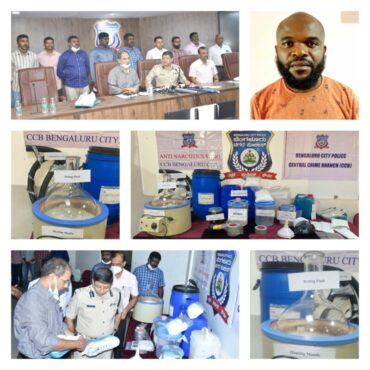 Narco lab detected by CCB Anti-Narcotics Wing African National arrested for Manufacturing MDMA; 4 Kg MDMA worth Rs.2 Crore seized