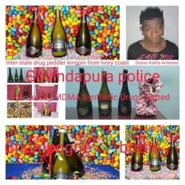 Inter-State Drug peddler kingpin from Ivory coast arrested by Govindapura police, High quality MDMA Synthetic Drugs Worth Rs.2.5 Crore Seized