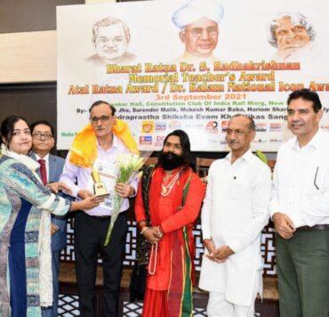 वरिष्ठ पत्रकार केपी मलिक को 'अटल रत्न' पुरस्कार
