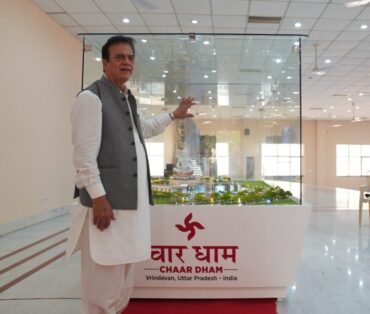 Chaar Dham temples will feature abodes for Maa Vaishno Devi, Lord Mahadev, Lord Radhe Krishna, and Lord Shanidev. – j c Chaudhary