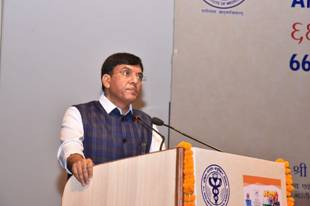 Shri Mansukh Mandaviya, Union Minister for Health and Family Welfare and Dr. Bharati Pawar, MoS, Health Ministry inaugurates 66th Foundation Day celebrations of AIIMS, New Delhi