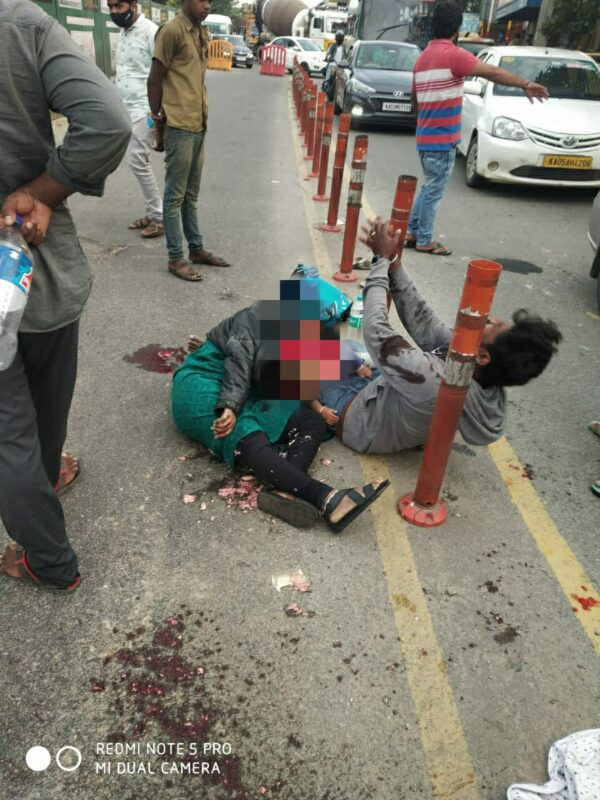 Speeding tipper knocked down bike rider Woman,child killed and husband injured in freak accident
